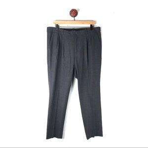 Madewell 12 pants wool tailored pleated tapered